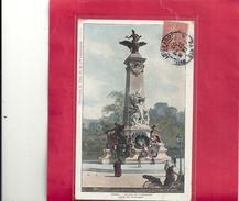 PARIS . STATUE DE GAMBETTA - COUR DU CARROUSSEL . AFFR LE 22-4-1907 SUR RECTO - Andere Monumenten, Gebouwen
