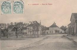 LUSIGNY - LA PLACE DE L'EGLISE - BELLE CARTE - COMMERCES - - France