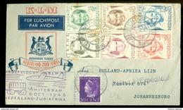 KLM * PROEFVLUCHT * LP * BRIEFOMSLAG Uit 1946 * GELOPEN VAN AMSTERDAM NAAR JOHANNESBURG ZUID AFRIKA (10.642a) - Periode 1891-1948 (Wilhelmina)