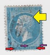 """YT 22 Napoléon - GC 16?? - Variété Parasite (""""A L'épi"""") + Surencrage + Sur Le Cadre - 1853-1860 Napoleon III"""