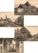 Leke : Ruines Oa : Station De Tram , .... ---  4 Zichtkaarten -- 4 Cp - Koekelare