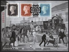 2015 Hungary - BLACK PENNY - Philatelist Memorial Sheet - Publisher: National Federation Of Hungarian Philatelist - Feuillets Souvenir