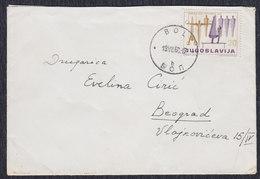 Yugoslavia 1960 Sport, Letter Sent From Bol To Beograd - 1945-1992 Socialist Federal Republic Of Yugoslavia
