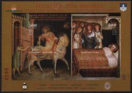 Simone Martini Fresco - Savaria Szombathely - Hungary 2016 - HUNFILA - Philatelist Memorial Sheet / Paper Break - Feuillets Souvenir