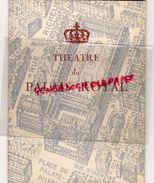 75 - PARIS - PROGRAMME THEATRE PALAIS ROYAL- LETRAZ-JEAN MEYER-MOLIERE-JEAN RICHARD-L' ECOLE DES MARIS-MEDECIN-DUVAL- - Programmes