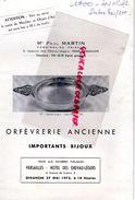78- VERSAILLES- CATALOGUE VENTE ME PAUL MARTIN- ORFEVRERIE -BIJOUX-MEUBLES -TAPISSERIE AUBUSSON-HOTEL CHEVAU LEGERS-1973 - Programmes