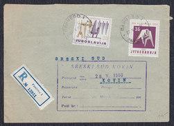 Yugoslavia 1960 Rome Olympic Games, Registered Letter Sent From Pancevo To Kovin - 1945-1992 Sozialistische Föderative Republik Jugoslawien