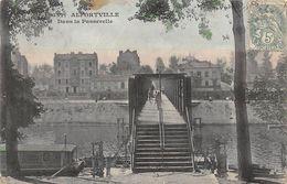 CPA 94 ALFORTVILLE DANS LA PASSERELLE 1907 Colorisée - Alfortville