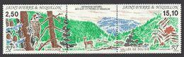 ST PIERRE 1992 BIRDS FLICKER FLOWERS TREES DOLISIE VALLEY SET MNH - St.Pierre & Miquelon