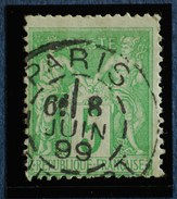 Sage N°106.Type II Ob.(CAD) PARIS-DEPART 8 Juin 1899. - 1876-1898 Sage (Type II)