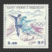 ST PIERRE 1992 SPORT WINTER OLYMPICS ALBERTVILLE ICE SKATING SET MNH - St.Pierre & Miquelon