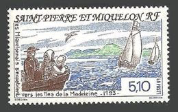 ST PIERRE 1993 SHIPS BIRDS SETTLEMENT OF MADELEINE ISLANDS SET MNH - St.Pierre & Miquelon