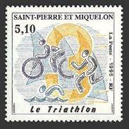 ST PIERRE 1995 SPORT TRIATHLON CYCLING BICYCLE SET MNH - St.Pierre & Miquelon