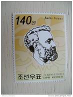 MNH Mint Stamp In Strip From Korea DPR 2006 Writer Jules Verne Anniversary - Korea, North