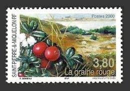ST PIERRE 2000 FLOWERS LINGON BERRY VACCINIUM VITUS-IDAEA SET MNH - Unused Stamps
