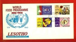 LESOTHO, 1973, Mint F.D.C., MI 136-`39, World Food Program, F977 - Lesotho (1966-...)