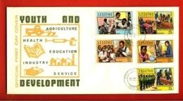 LESOTHO, 1974, Mint F.D.C., MI 151-155, Youth And Development, F979 - Lesotho (1966-...)