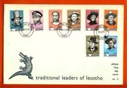LESOTHO, 1975, Mint F.D.C., MI 183-189, Politicians, F999D - Lesotho (1966-...)