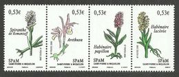 ST PIERRE MIQUELON 2006 FLOWERS WILD ORCHIDS SET MNH - St.Pierre & Miquelon