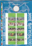 BRD Weltmeisterschaft,2 Wm-numisblätter Ohne Gedenkmünzen,2003+2005,football,fussball,voetbal,fútbol,gestempelt(C270) - 2006 – Allemagne