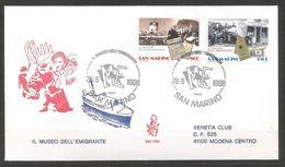 1998 EMIGRANTI San Marino FDC Venetia Vg - FDC