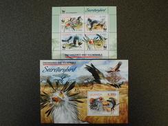 Uganda 2012 - WWF Secretary Bird - Endangered And Vulnerable Species Of Uganda - Serie + SS - Ouganda (1962-...)
