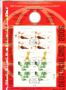 BRD Weltmeisterschaft,2 Wm-numisblätter Ohne Gedenkmünzen,2003+2004,football,fussball,voetbal,fútbol,gestempelt(C271) - 2006 – Duitsland