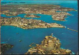 °°° 6511 - MALTA - VALLETTA - AERIAL VIEW - 1986 With Stamps °°° - Malta