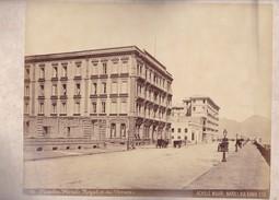 ACHILLE MAURI. HOTELS ROYAL ET DU VESUVE, NAPOLI.ORIGINAL,RARE CIRCA 1870S 36.7X31.9CM - ITALY/ITALIA- BLEUP - Alte (vor 1900)
