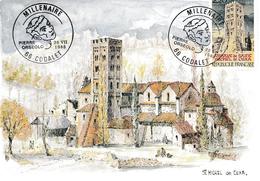 BT MILLENAIRE  PIERRE ORSEOLO SUR CP TBRE ST MICHEL DE CUXA  VOIR SCANS - Storia Postale