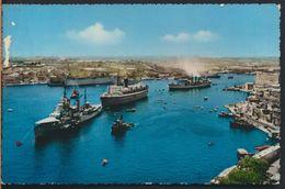 °°° 6516 - MALTA - GRAND HARBOUR - 1958 With Stamps °°° - Malta