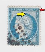 YT 60 Cérès - Ambulant PCH Ou Corps Expéditionnaire CCH ? - Variété Surencrage Et Anneau Lune - 1871-1875 Ceres