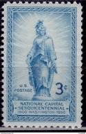 United States, USA, 1950, Statue Of Freedom On Capitol Dome, Scott# 989, MNH - United States