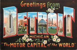 PIE 17-JM-6826 :  GREETINGS FROM DETROIT - Detroit