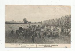 Cp, MILITARIA , Guerre 1914-18 , Convoi De Ravitaillement àl'abri Pendant Le Combat , Voyagée 1914 - Guerre 1914-18