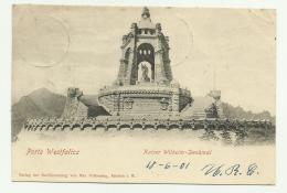 PORTA WESTFALICA - KAISER WILHELM DENKMAL  1901 VIAGGIATA  FP - Detmold