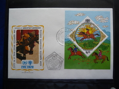 YEAR OF THE CHILD  FDC S/S MONGOLIA  1979 - Kindertijd & Jeugd