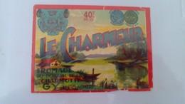 """Etiquette -  """" LE CHARMEUR """" 40 % MAT G Fabriqué Au Domaine De La Charmotte Dans La Haute Saône - Cheese"""
