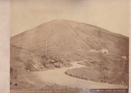 ACHILLE MAURI.FERROVIA FUNNICOLARE DEL VESUVIO, NAPOLI.ORIGINAL,RARE CIRCA 1870S 36.7X31.9CM - ITALY/ITALIA- BLEUP - Photographs