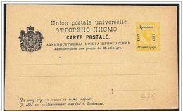 Montenegro/Monténégro: Intero Postale, Entiers Postaux, Postal Stationery - Montenegro