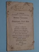 MENU Du Diner Offert A L'Occasion De La Communion De François VAN HOU - 29 Mai 1902 (Mme Gustaf Vanden Bussche) Bruges ! - Menus