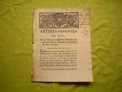 Lettres Patentes Du Roi Du 07/04/1790  Qui Assujettit Les Citoyens Au Logement Des Gens De Guerre - Documents