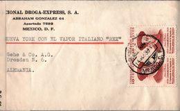 !  Old Censor Cover 14.9.1939 Mexico, Mexiko To Dresden, Frühe USA Zensur, Censure, Schiffpost Italien. Dampfer Rex - Mexique
