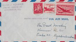 CHICAGO 1948 → Letter To Praha Czechoslovakia  ►VIA AIR MAIL◄ - Luftpost
