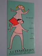 Le Paradis Des Enfants Vous Attend à L' INNOVATION ( Format +/- 21 X 11 Cm.) ! - Carte Assorbenti