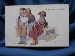 Feiertag  Le Secret De Polichinelle  Enfants Et Teckel - Circulée 1916 - R162 - Feiertag, Karl