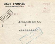 """Congo AEF 1956 Brazzaville Credit Lyonnais Satas """"SD"""" 3152 EMA Meter Cover - Frans-Kongo (1891-1960)"""