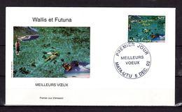 """Enveloppe 1er Jour De 2002 : """" MEILLEURS VOEUX """". N° YT 587. Parfait état FDC - FDC"""