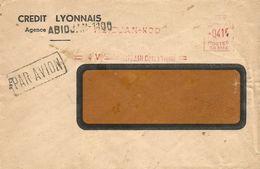 "Cote D'Ivoire AOF 1956 Abidjan Credit Lyonnais Satas ""SD"" 3133 EMA Meter Cover - Brieven En Documenten"