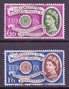 GB Scott 377/378 - SG621/622, 1960 Europa Set Used - 1952-.... (Elizabeth II)